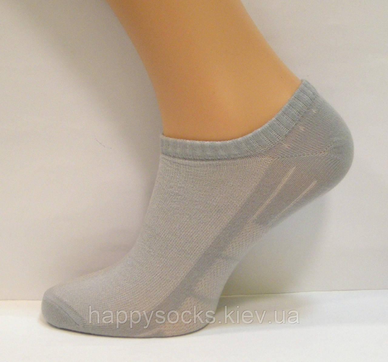 Носки в сеточку для мужчин низкие серого цвета