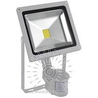 Прожектор LED 20w 6500K IP65 1100LM LEMANSO 100-265V с датчиком серый/