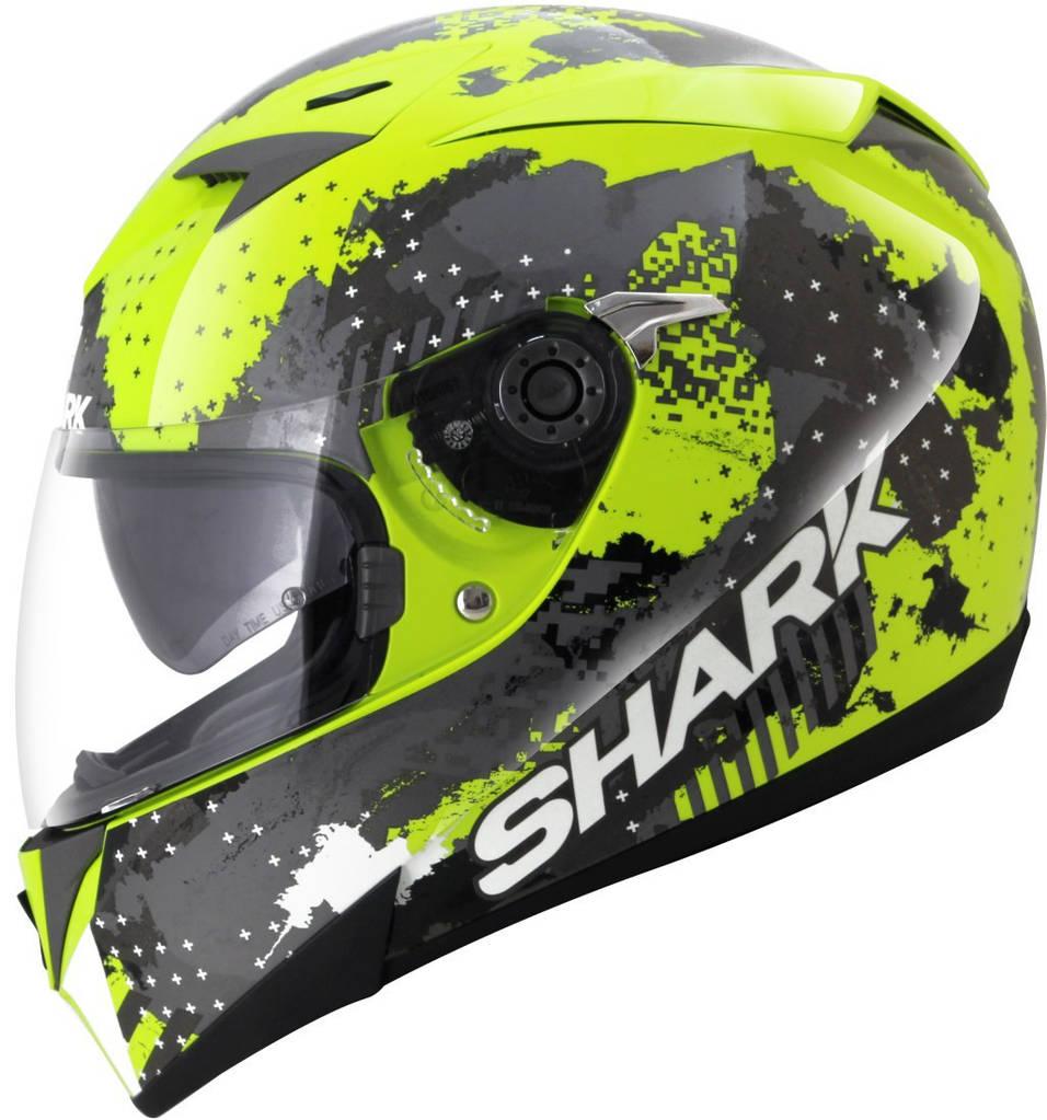 Шлем Shark S700 Squad р.XL, черно-зеленый