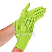 Перчатки нитриловые без талька Abena Green Apple 1 пара, салатовые M