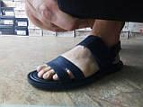Стильные синие кожаные сандалии Rondo, фото 5