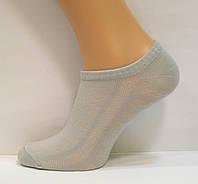 Носки в сетку женские серого цвета низкие, фото 1