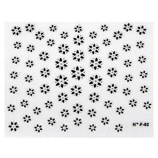 KATTi Наклейки клейкие Crystal Black/White HZ-F 02 ч/б стразы , фото 2