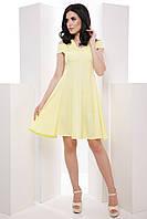 Нежное женское платье со спущенными плечами и пышной юбкой 7046/6, фото 1