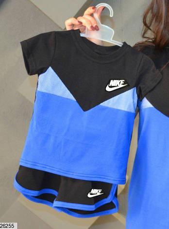 ae3fc7a8 Летний спортивный костюм для мальчика с сеткой и логотипом Nike, синий с  черным, фото
