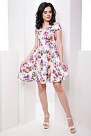 Нежное женское платье со спущенными плечами и пышной юбкой 7046/7, фото 1