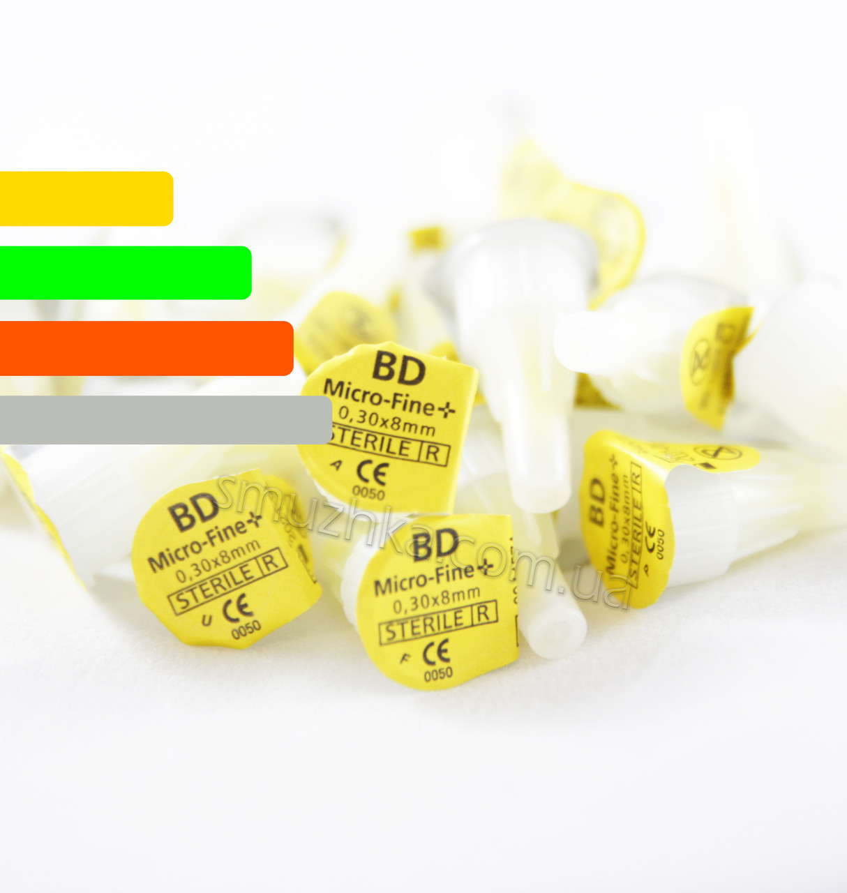 Иглы для шприц-ручек BD Micro-Fine Plus 8 мм, 30G - Поштучно Микрофайн