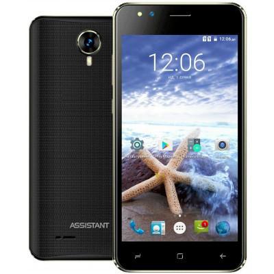 "Смартфон Assistant AS 5421 Surf 1/8Gb Black, 5/2Мп, 5"" IPS, 1700mAh, 2sim, 4 ядра, 3G, SC7731, 12 мес."