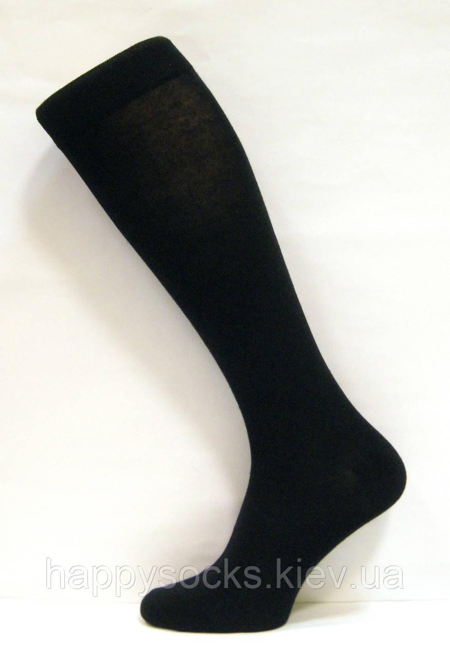 Підколінки-шкарпетки для чоловіків чорного кольору бавовняні