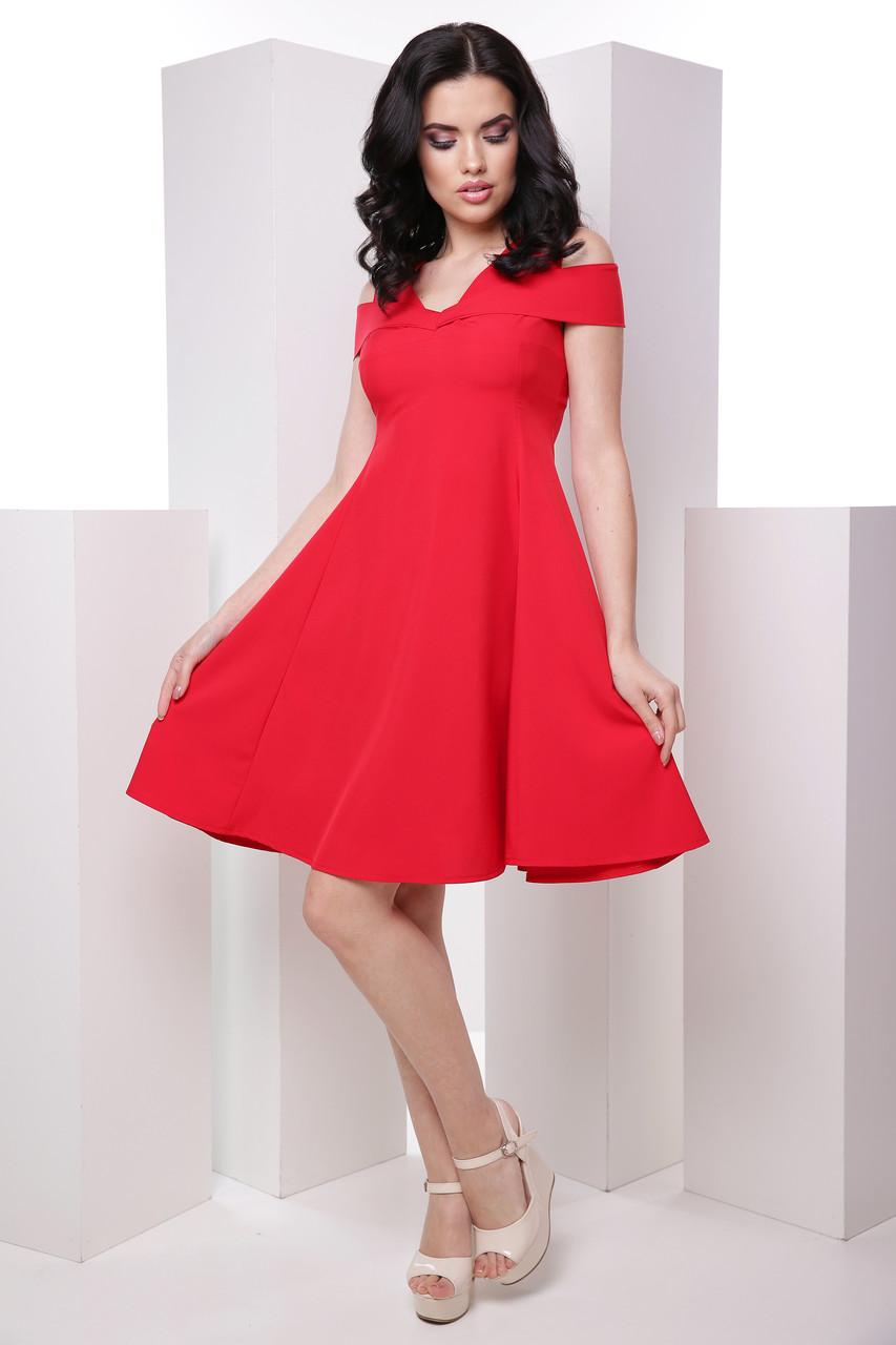 Нежное женское платье со спущенными плечами и пышной юбкой 7046/9, фото 1