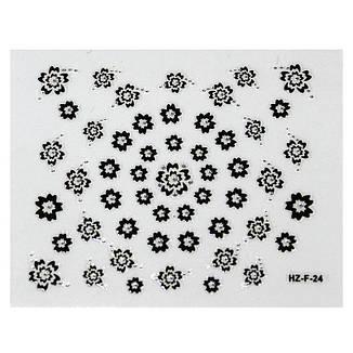 KATTi Наклейки клейкие Crystal Black/White HZ-F 24 ч/б стразы , фото 2