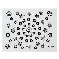 KATTi Наклейки клейкие Crystal Black/White HZ-F 24 ч/б стразы