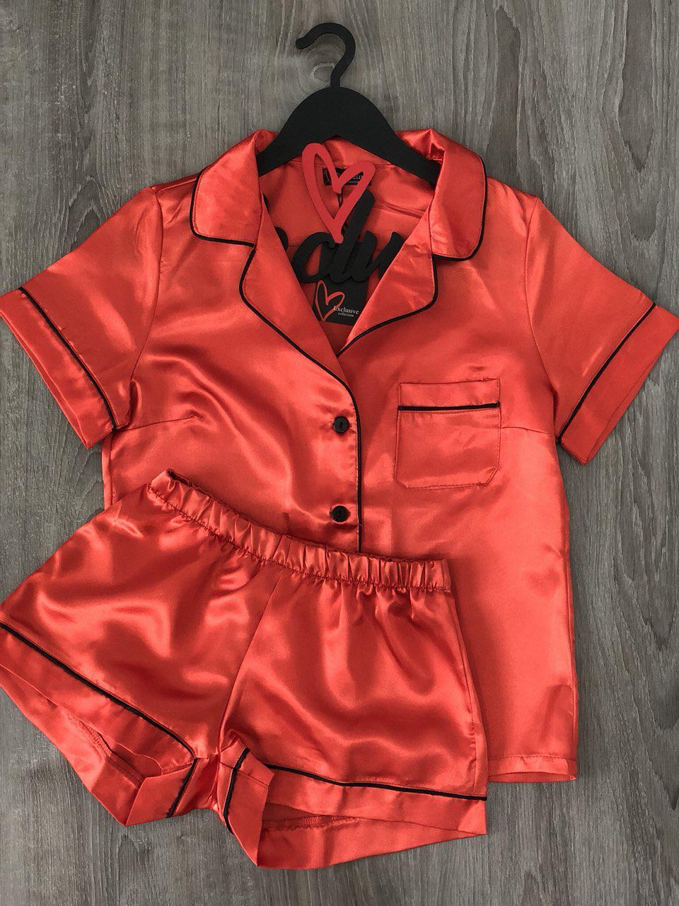 Комплект шорты и майка из атласа, домашняя одежда