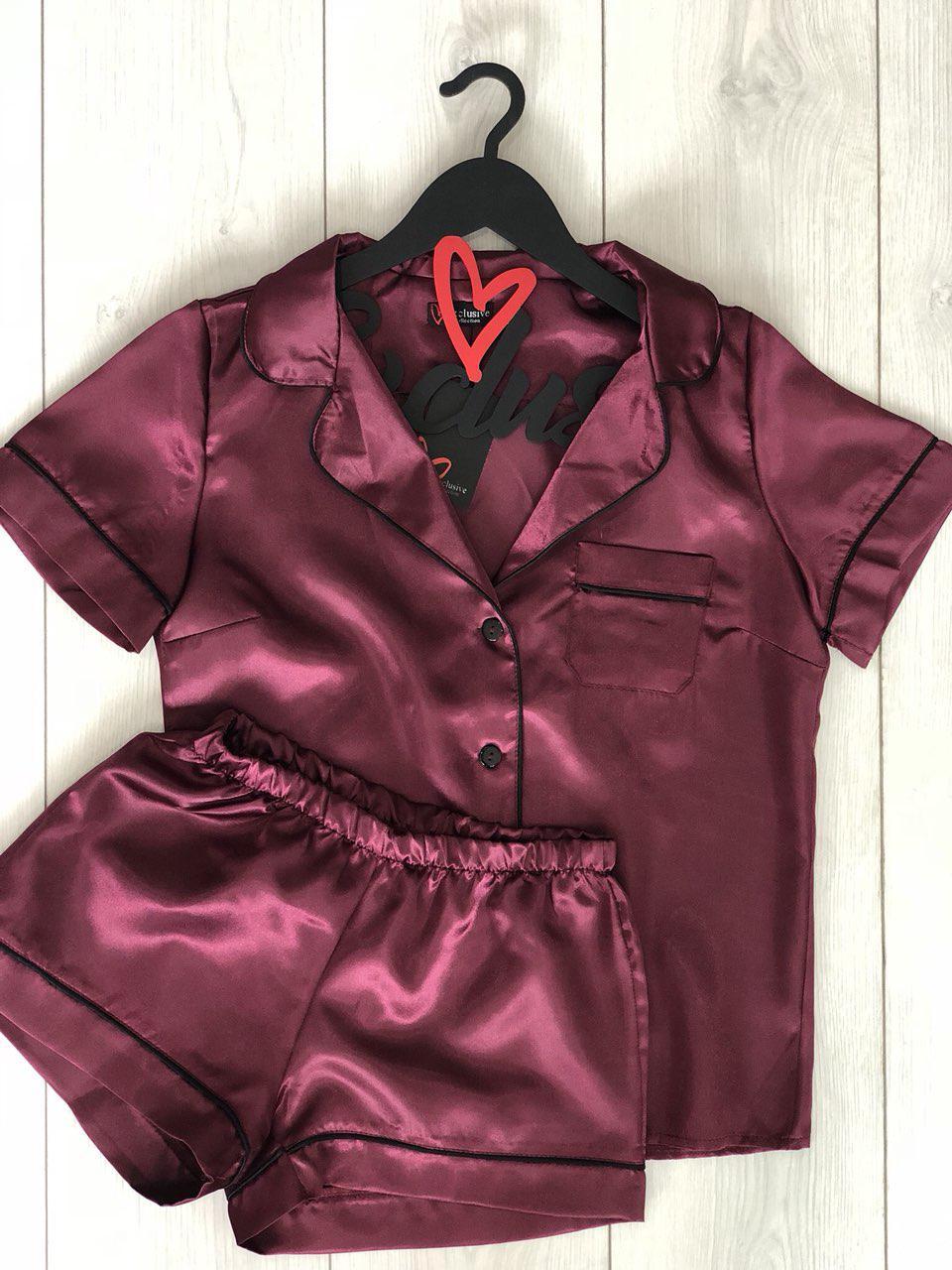 Женский комплект пижамы рубашка с шортами ТМ Exclusive
