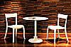 Стул Hera-S сиденье Песочно-бежевое верх Белый (Papatya-TM), фото 2