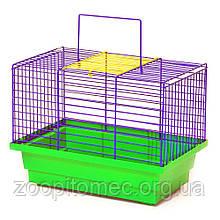 Клетка ПТАШКА  для транспортування (280х180х210), цільна  цинк