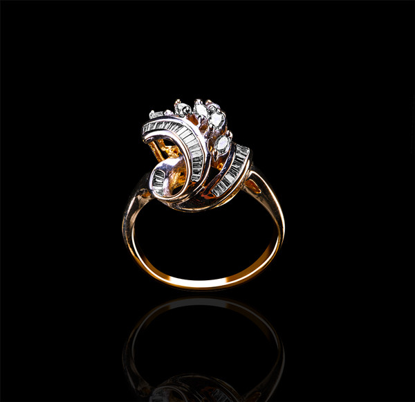 Золоте кільце з діамантами С18Л1№11