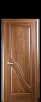 Межкомнатная дверь  Амата ПВХ DeLuxe глухая с гравировкой, цвет золотая ольха