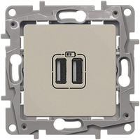 Розетка USB двойная Слоновая кость ETIKA LEGRAND 672394