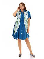 Платье-рубашка большого размера, фото 1