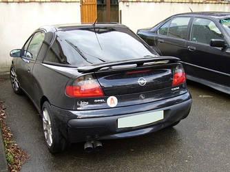 Спойлер на багажник тюнинг Opel Tigra