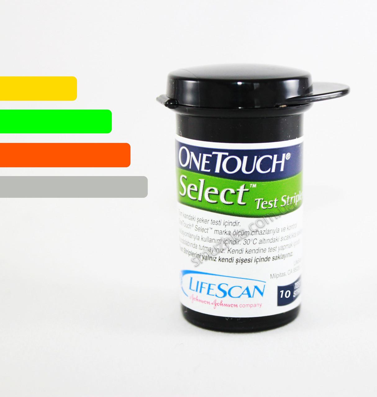 Тест-полоски One Touch Select LifeScan #10 - Ван Тач Селект #10 шт.