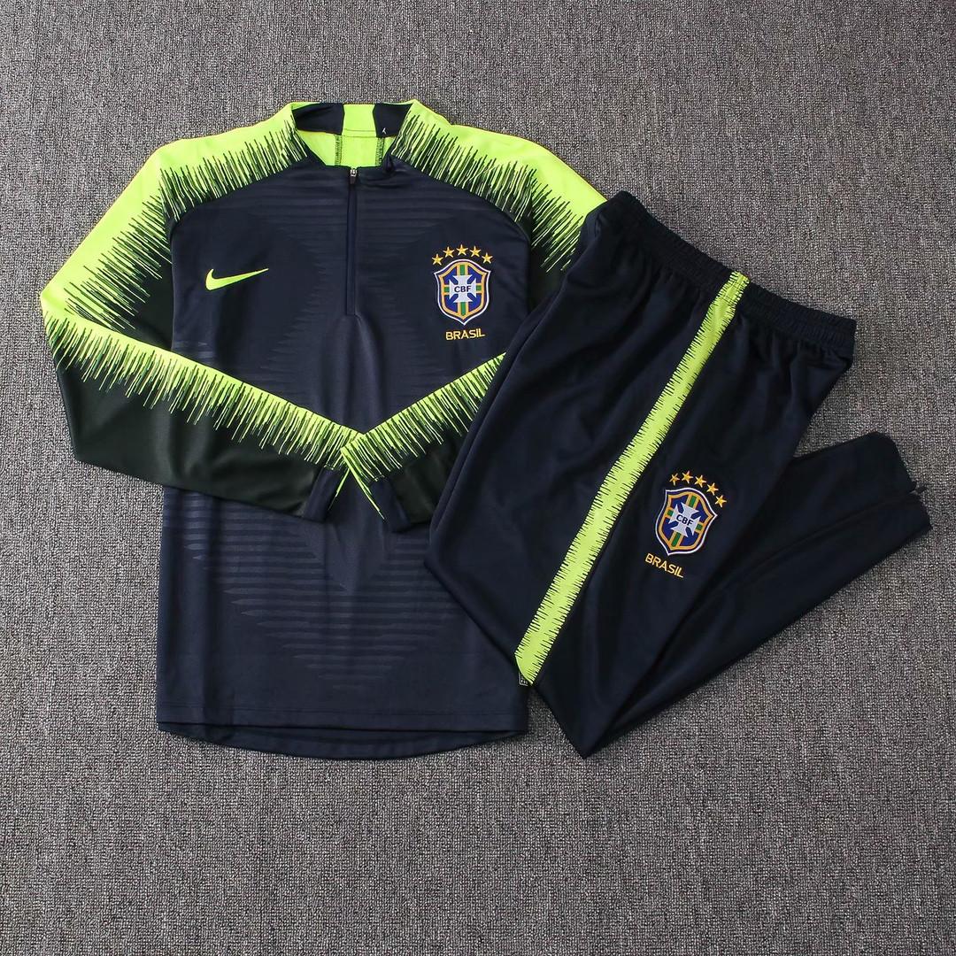 Костюм тренировочный Бразилия 2018 темно-зеленый Nike