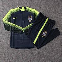 Костюм тренировочный Бразилия 2018 темно-зеленый Nike, фото 1
