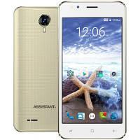 """Смартфон Assistant AS 5421 Surf 1/8Gb Gold, 5/2Мп, 5"""" IPS, 1700mAh, 2sim, 4 ядра, 3G, SC7731, 12 мес., фото 1"""