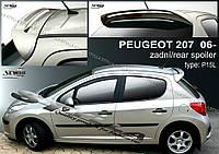 Спойлер козырек заднего стекла тюнинг Peugeot 207