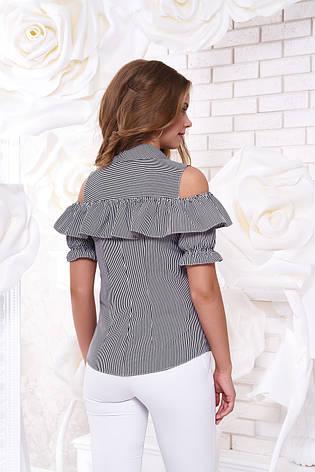 """Блуза """"Урана"""" 2 с открытыми плечами и воланом (размер - L), фото 2"""