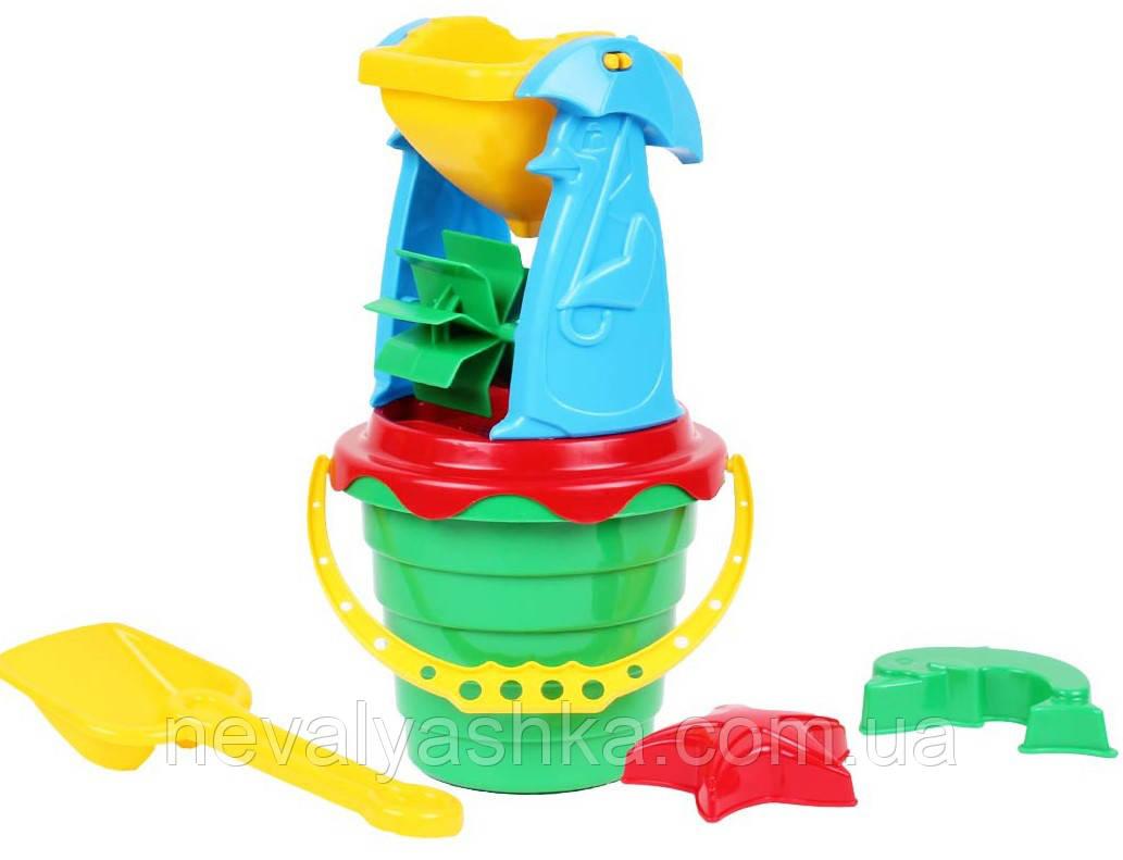 Песочный набор Млинок Мельница 4 Технок Детский песочный комплект, 1370, 008107