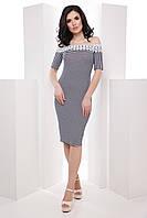 Нежное женское платье со спущенными плечами и пышной юбкой 7047/1, фото 1