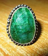 Элегантный перстень с изумрудом , размер 17,8 от студии LadyStyle.Biz, фото 1