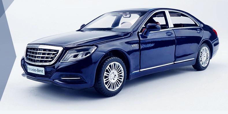 Коллекционная машинка Mercedes Benz S600 (синяя)