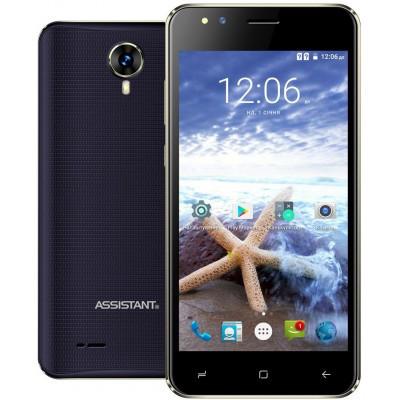 "Смартфон Assistant AS 5421 Surf 1/8Gb Blue, 5/2Мп, 5"" IPS, 1700mAh, 2sim, 4 ядра, 3G, SC7731, 12 мес."