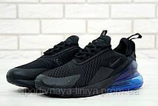 Копия Мужские кроссовки Air Max 270 Black \ Blue (Найк Аир Макс 270 (Реплика Топ качества ), фото 2