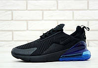 Копия Мужские кроссовки Air Max 270 Black \ Blue (Найк Аир Макс 270 (Реплика Топ качества )