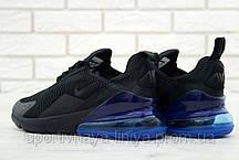 Копия Мужские кроссовки Air Max 270 Black \ Blue (Найк Аир Макс 270 (Реплика Топ качества ), фото 3