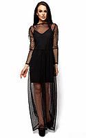 Женское летнее платье двойка в пол Karree Маниша черное