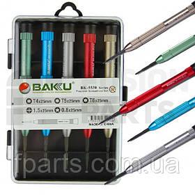 Набор отверток BAKU 5530 (T4*25mm / T5*22mm / T6*25mm / 1.5*25mm / 0.8*25mm)