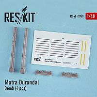 Matra Durandal Bomb (4 pcs) (F-15 E Strike Eagle, F-111, Mirage 2000) 1/48  RES/KIT 48-0050