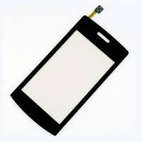 LG GT500 сенсорный экран, тачскрин черный