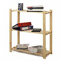 Деревянный стеллаж для дома и офиса на 3 полки серии BASIC3