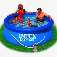 Наливной прочный бассейн INTEX 244х76 см.