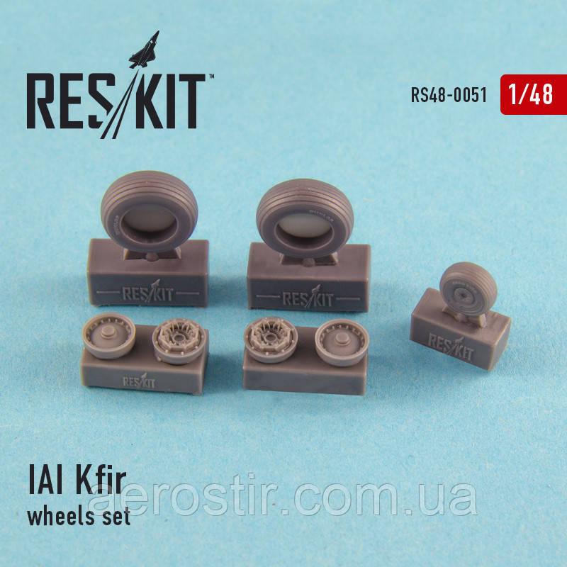 IAI Kfir wheels set 1/48  RES/KIT 48-0051