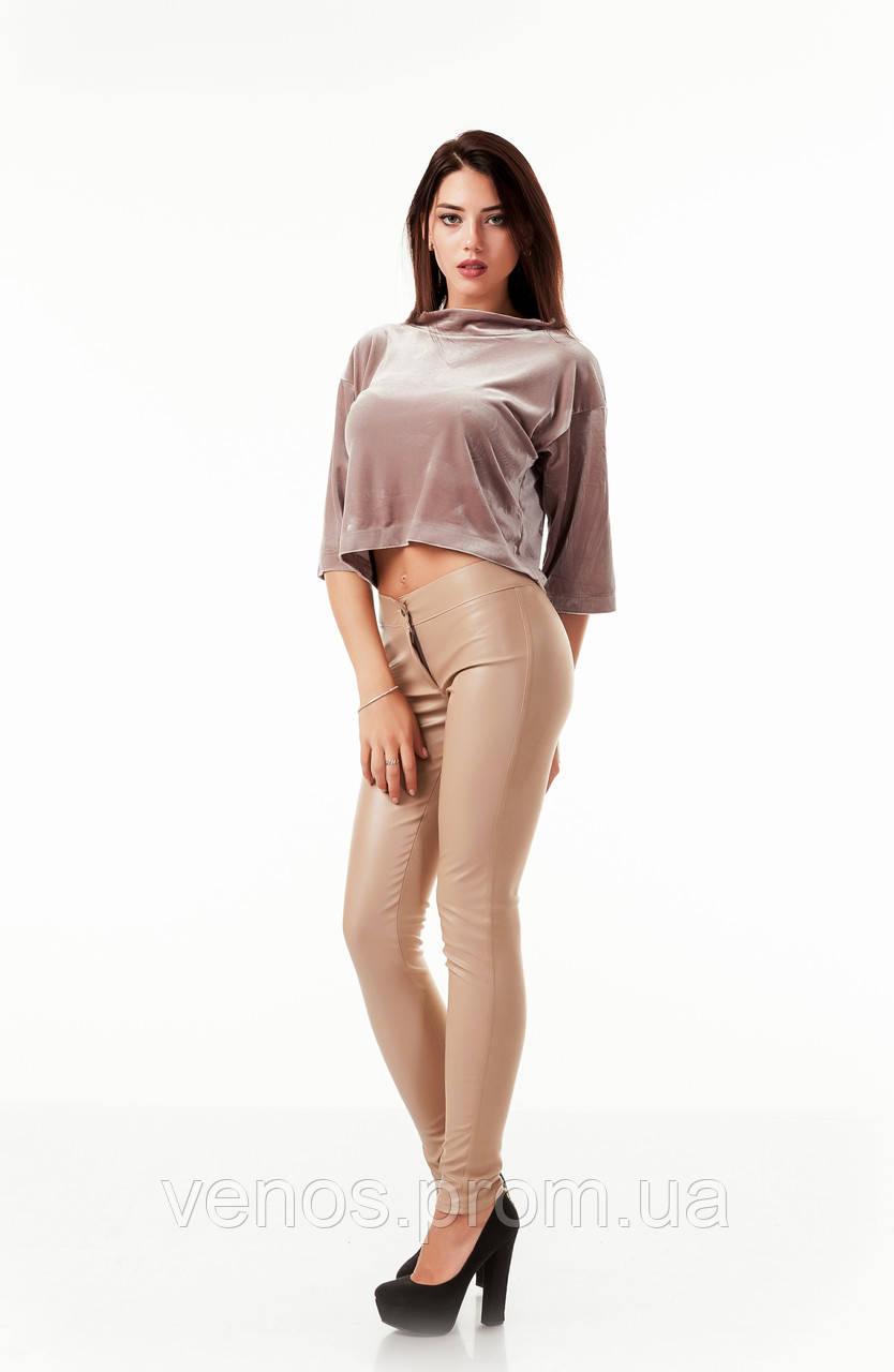 Модные комбинированные женские леггинсы.  L059