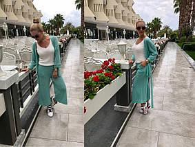"""Женский трикотажный брючный костюм """"LOREK"""" с люрексом (4 цвета), фото 2"""