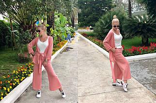"""Женский трикотажный брючный костюм """"LOREK"""" с люрексом (5 цветов), фото 3"""
