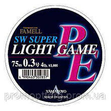 Плетёный шнур Yamatoyo  SW Super Light Game PE, 75m